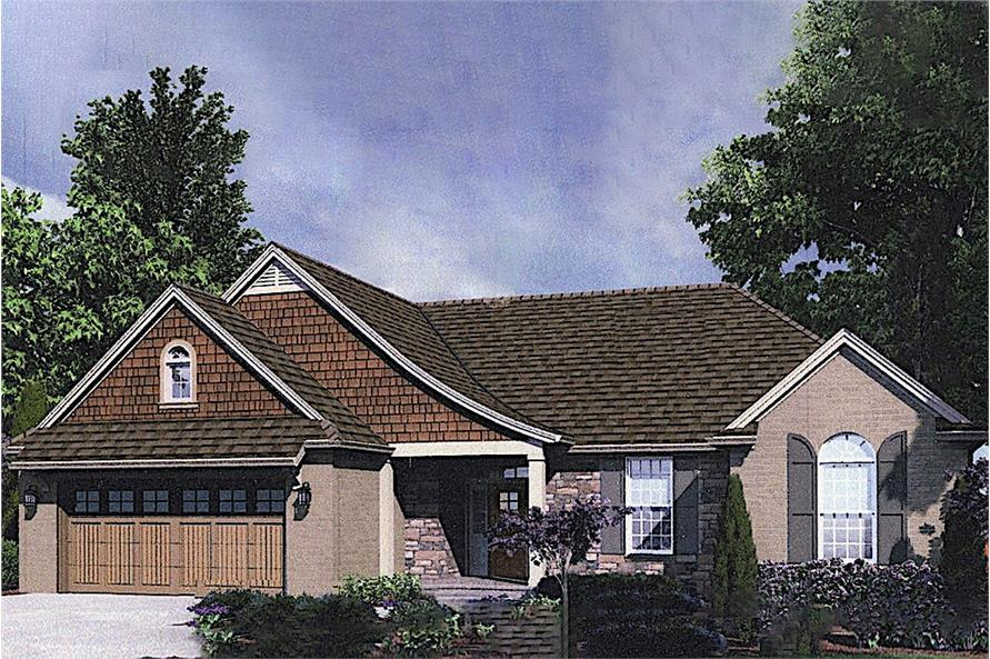 3-Bedroom, 1741 Sq Ft Traditional House - Plan #169-1033 - Front Exterior