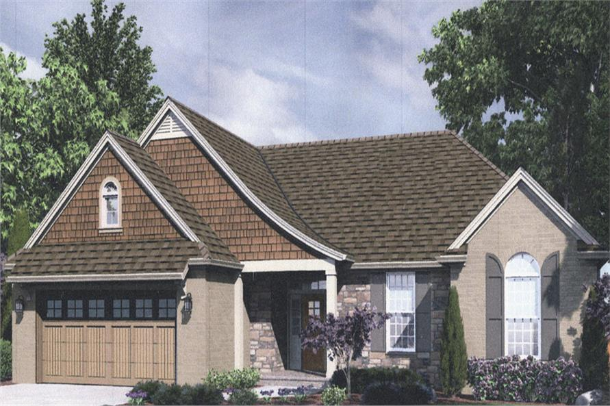 Front elevation of Traditional home (ThePlanCollection: House Plan #169-1033)