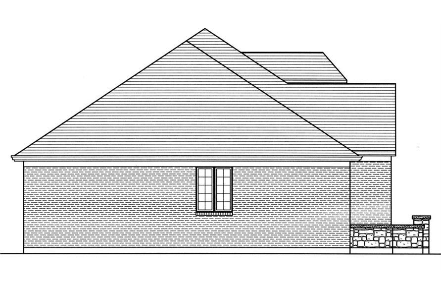 169-1034: Home Plan Left Elevation