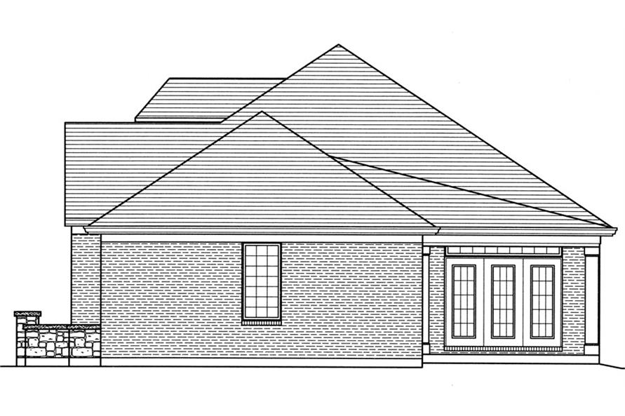 169-1034: Home Plan Right Elevation