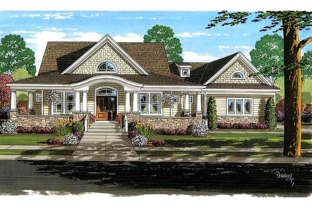 4 Bedroom Cape Cod House Plan First Floor Master Garage