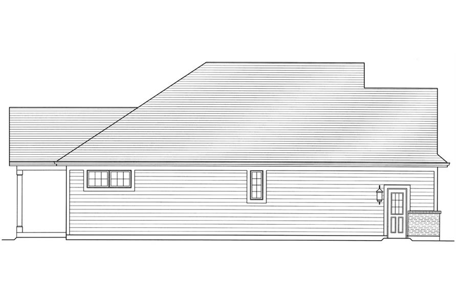 169-1036: Home Plan Left Elevation
