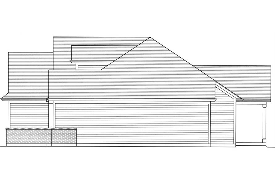169-1036: Home Plan Right Elevation