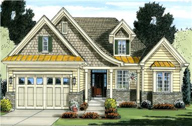 3-Bedroom, 1718 Sq Ft Cottage Home Plan - 169-1036 - Main Exterior