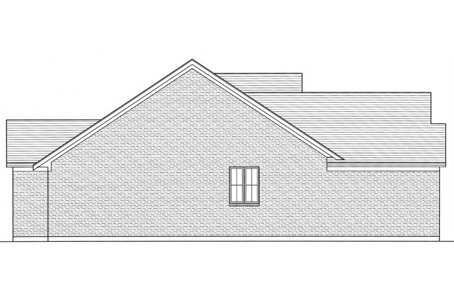 169-1037: Home Plan Left Elevation