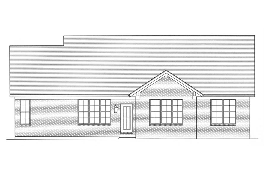 169-1037: Home Plan Rear Elevation