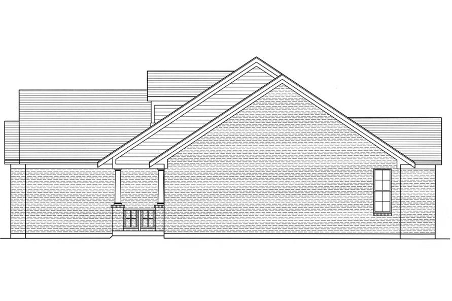 169-1037: Home Plan Right Elevation