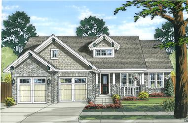 3-Bedroom, 1818 Sq Ft Country Home Plan - 169-1037 - Main Exterior