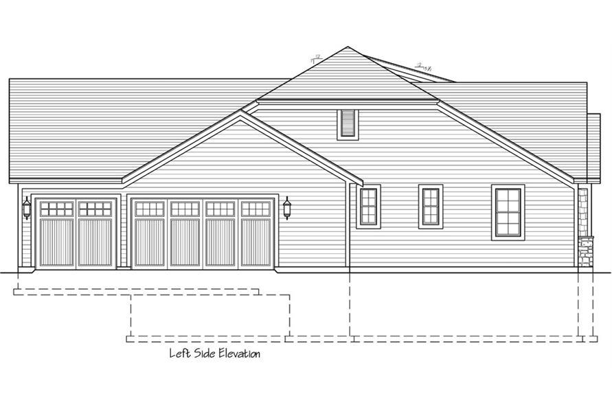 169-1038: Home Plan Left Elevation