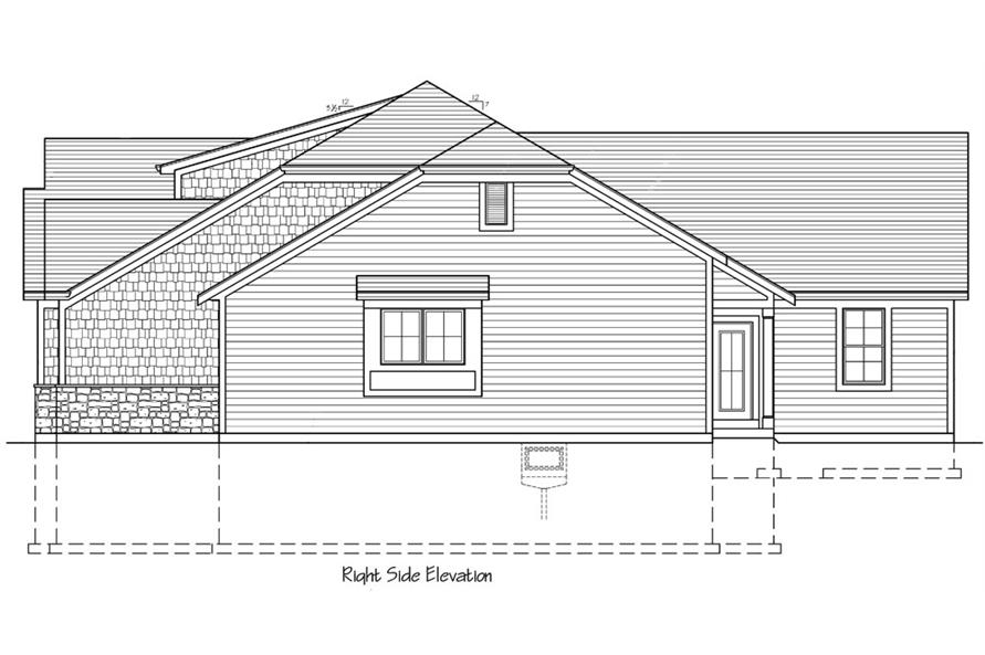 169-1038: Home Plan Right Elevation