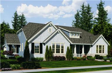 3-Bedroom, 2479 Sq Ft Craftsman Home Plan - 169-1038 - Main Exterior