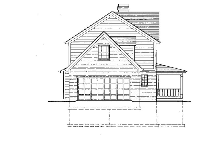 Home Plan Left Elevation of this 3-Bedroom,1698 Sq Ft Plan -169-1039