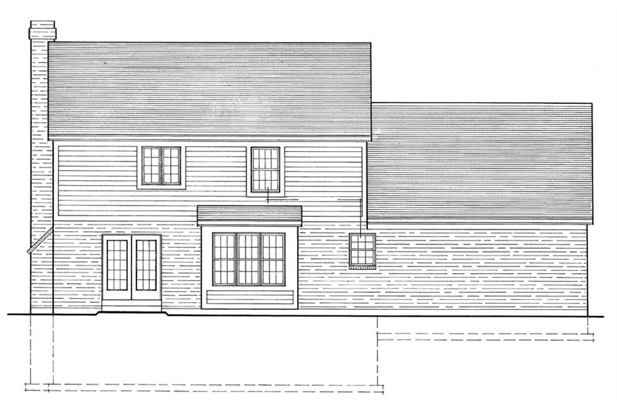 Home Plan Rear Elevation of this 3-Bedroom,1698 Sq Ft Plan -169-1039