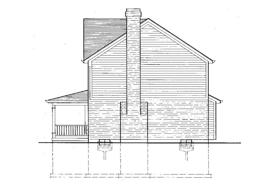 Home Plan Right Elevation of this 3-Bedroom,1698 Sq Ft Plan -169-1039