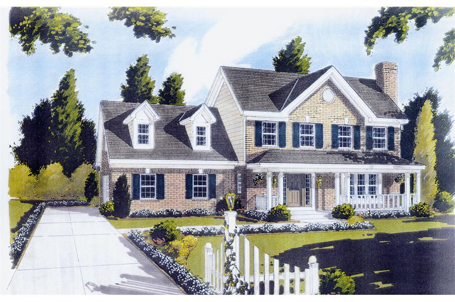 3-Bedroom, 1698 Sq Ft Traditional Home Plan - 169-1039 - Main Exterior