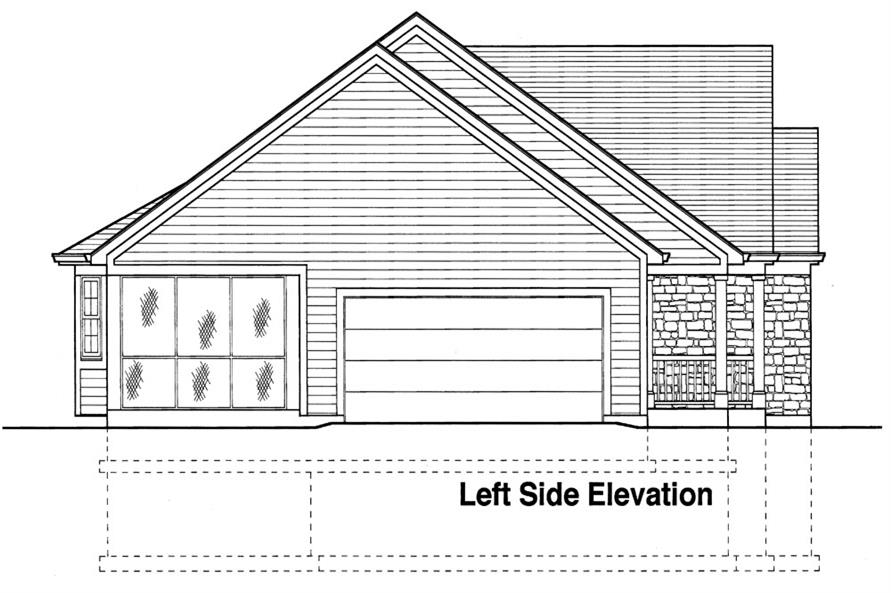 169-1041: Home Plan Left Elevation