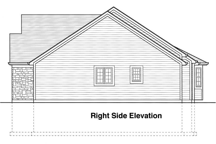 169-1041: Home Plan Right Elevation