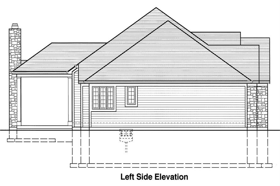 169-1042: Home Plan Left Elevation