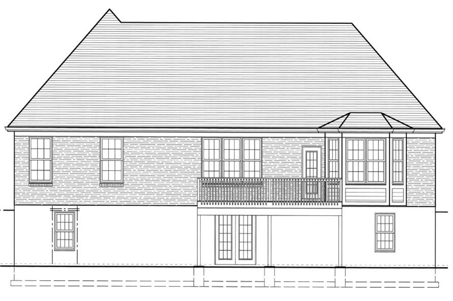 169-1043: Home Plan Rear Elevation