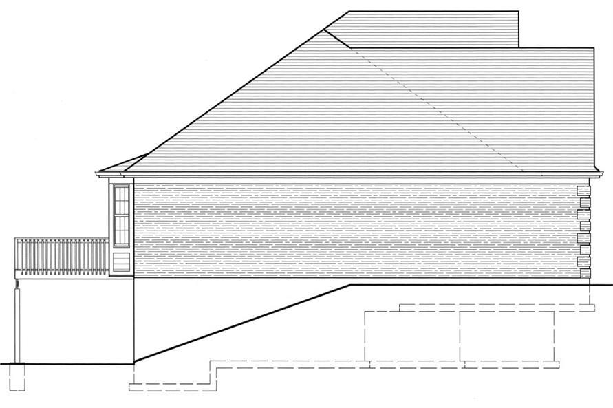 169-1043: Home Plan Left Elevation