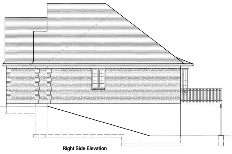 169-1043: Home Plan Right Elevation