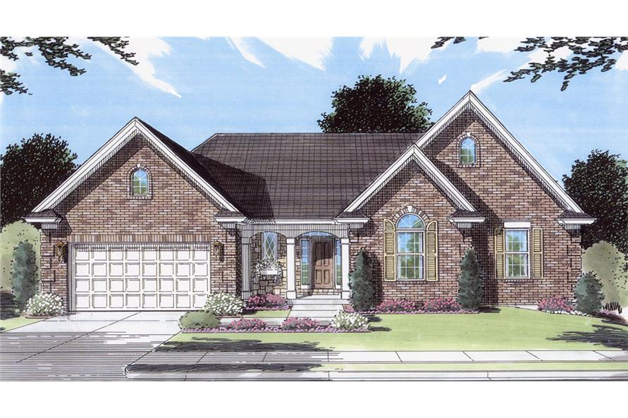 Front elevation of Traditional home (ThePlanCollection: House Plan #169-1043)