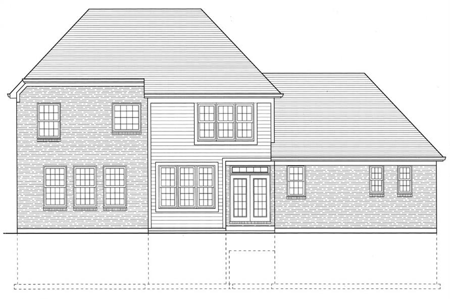 169-1044: Home Plan Rear Elevation