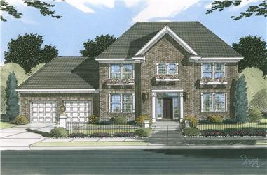 Front elevation of Traditional home (ThePlanCollection: House Plan #169-1044)