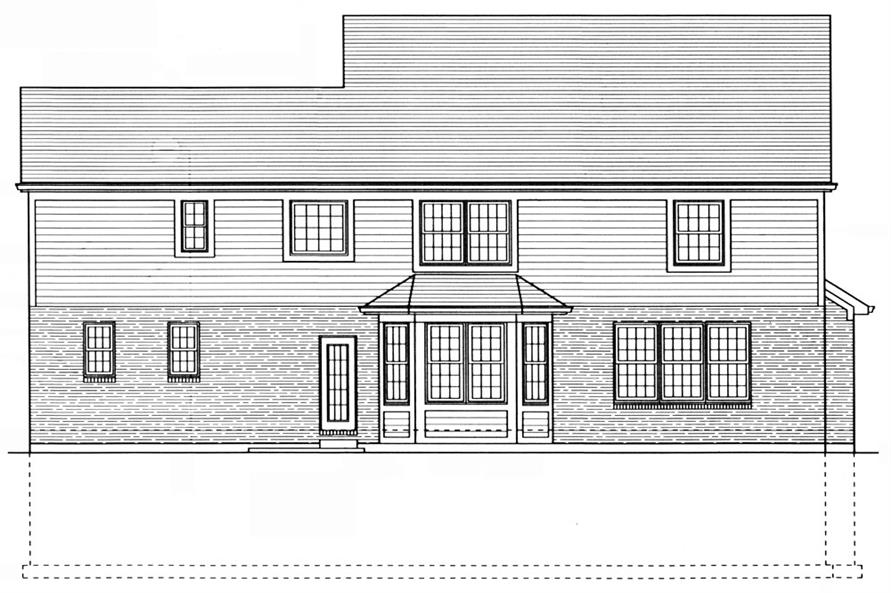 169-1045: Home Plan Rear Elevation