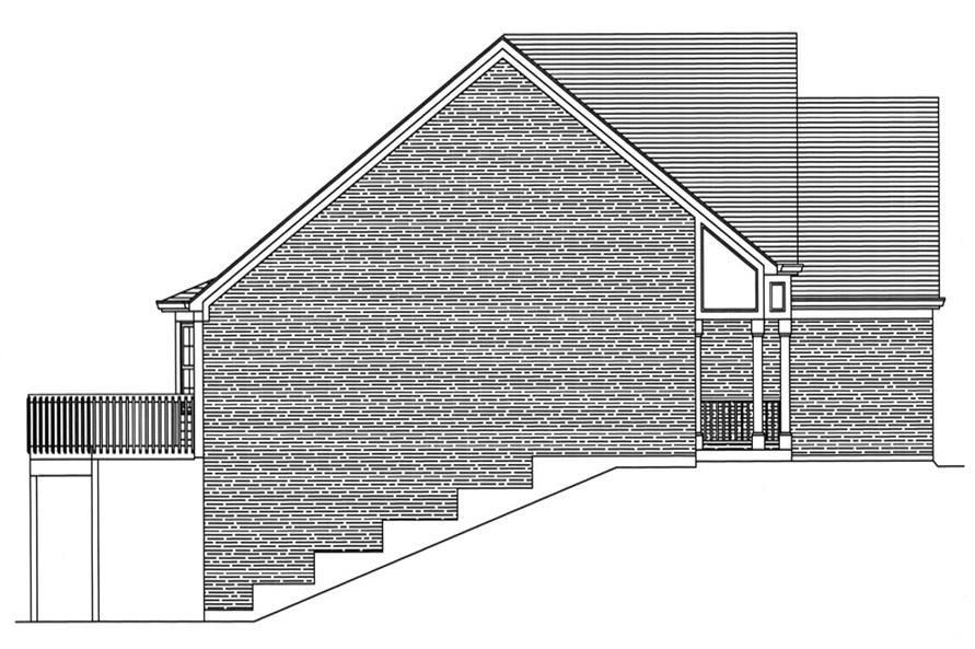 169-1046: Home Plan Left Elevation