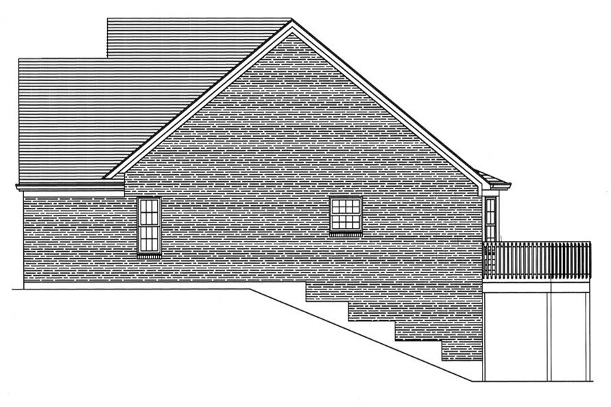 169-1046: Home Plan Right Elevation