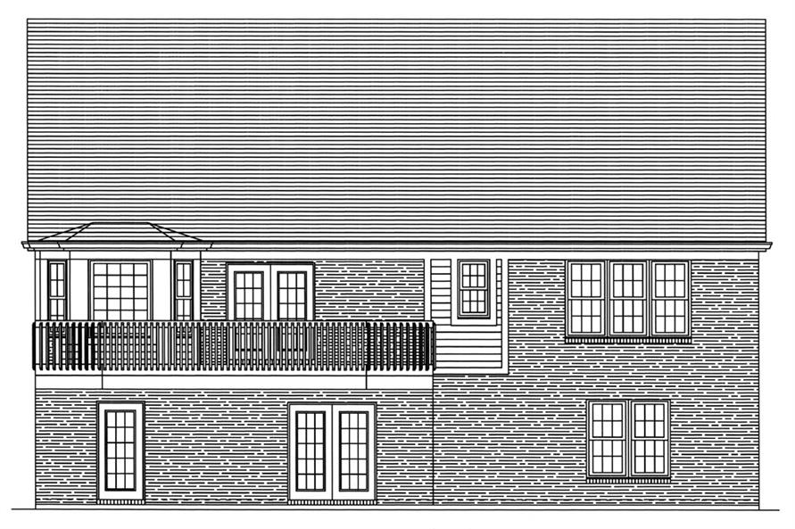 169-1046: Home Plan Rear Elevation