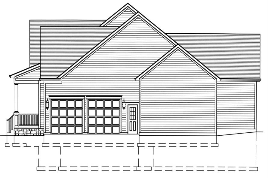 169-1047: Home Plan Right Elevation