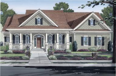 Front elevation of Country home (ThePlanCollection: House Plan #169-1047)