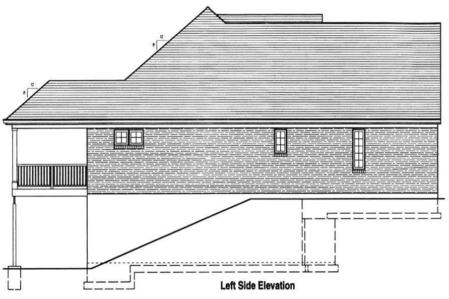 169-1048: Home Plan Left Elevation
