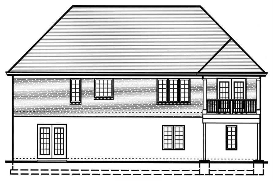 169-1048: Home Plan Rear Elevation