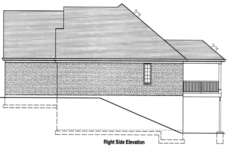 169-1048: Home Plan Right Elevation