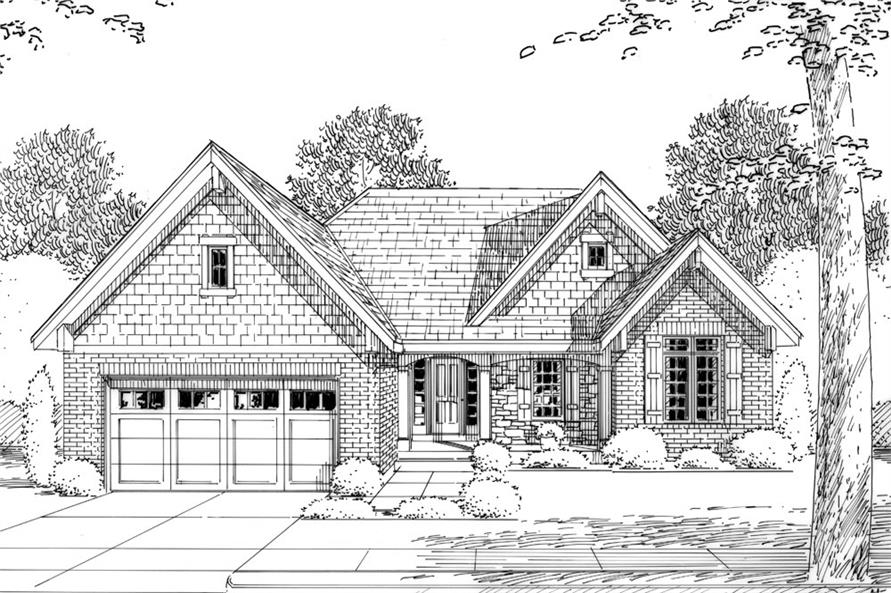 169-1048: Home Plan Rendering