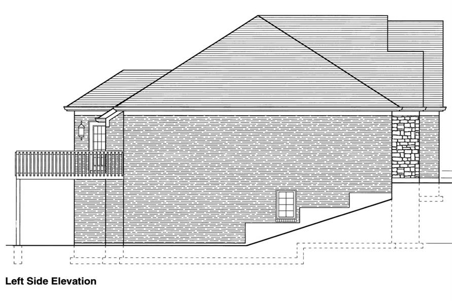 169-1049: Home Plan Left Elevation