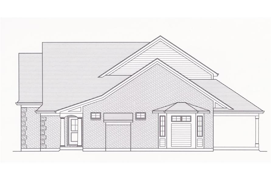 169-1050: Home Plan Right Elevation