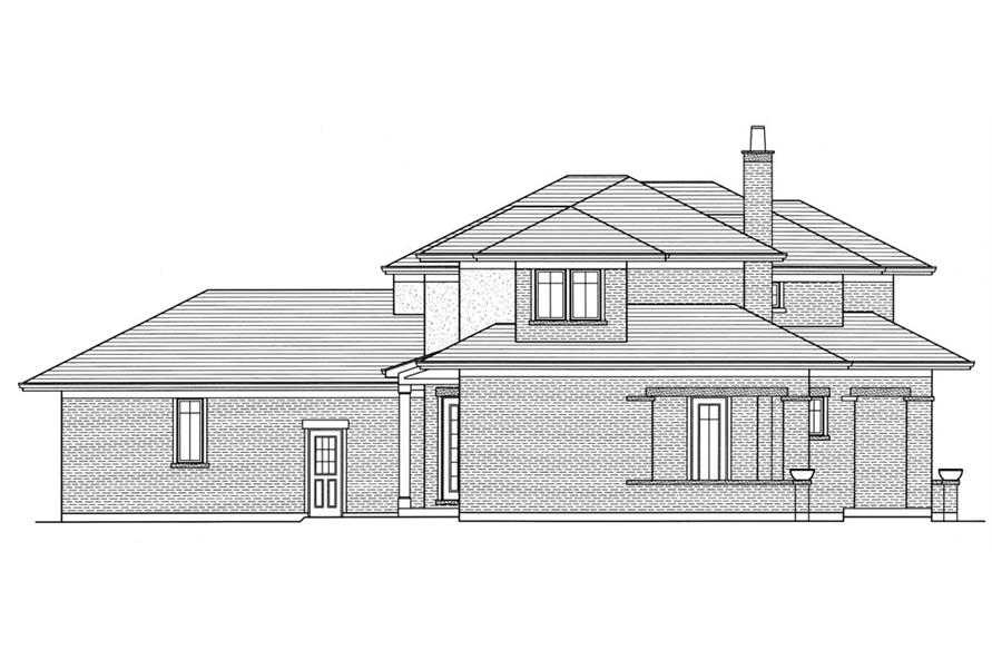 169-1051: Home Plan Left Elevation