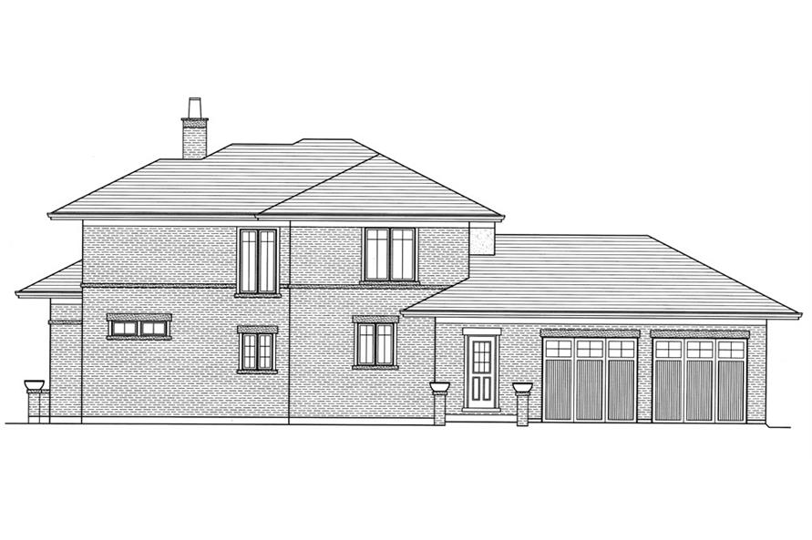 169-1051: Home Plan Right Elevation