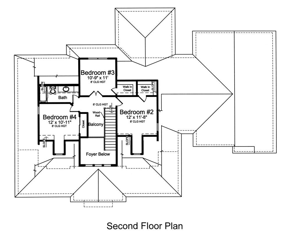 Cape cod house plan 4 bedrms 2 5 baths 2410 sq ft for 4 bedroom cape cod house plans