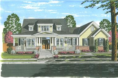 4-Bedroom, 2410 Sq Ft Cape Cod Home Plan - 169-1052 - Main Exterior