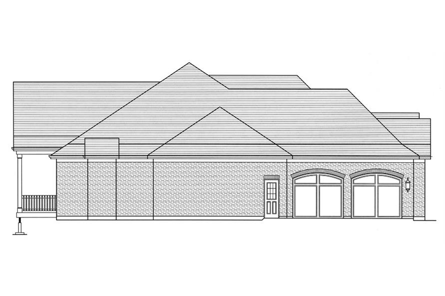 169-1053: Home Plan Left Elevation