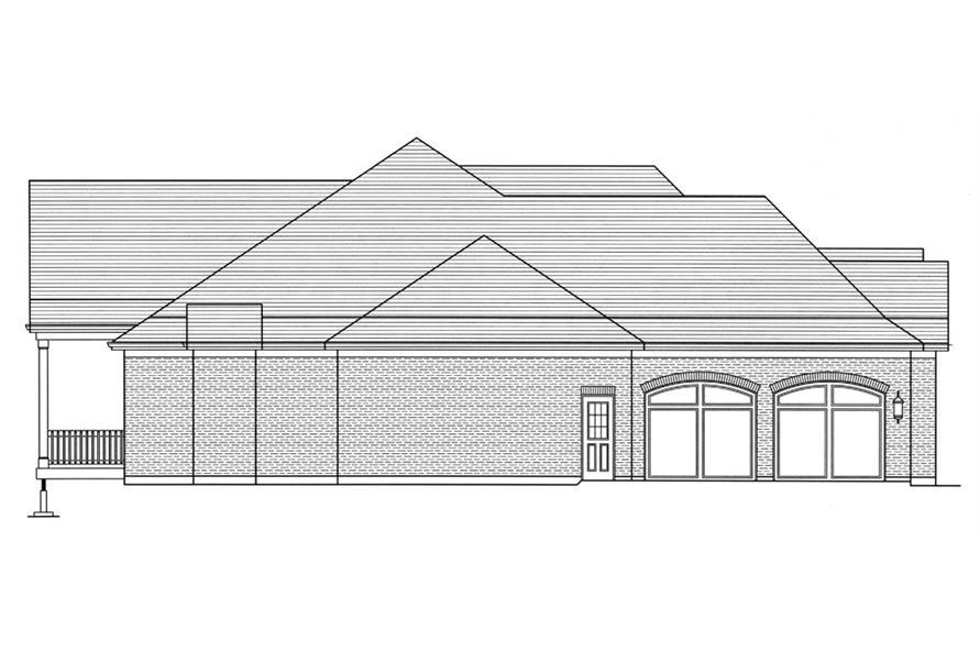 169-1053: Home Plan Left Elevation