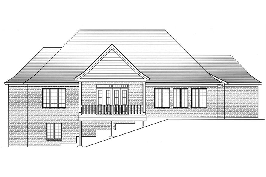 169-1053: Home Plan Rear Elevation