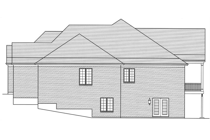 169-1053: Home Plan Right Elevation