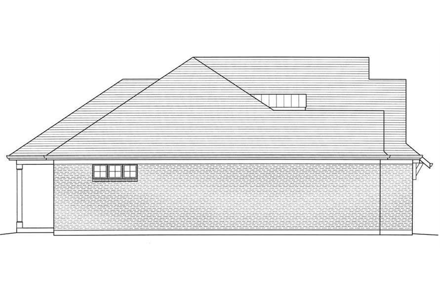 169-1054: Home Plan Left Elevation