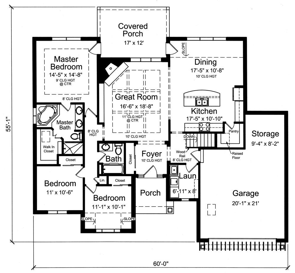 Craftsman House Plan 169 1055 3 Bedrm 1791 Sq Ft Home